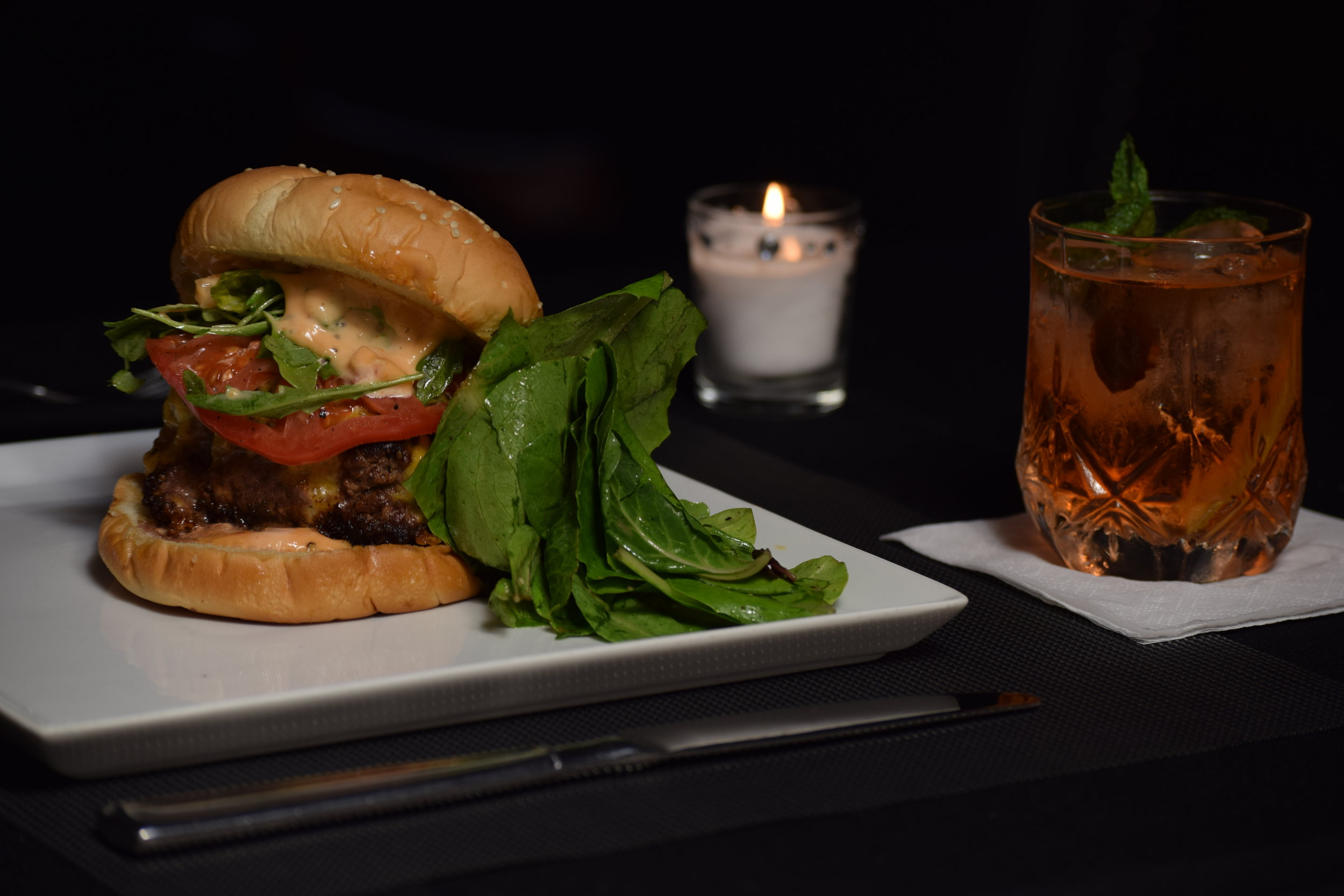Burgers and Cocktails - Join us for our Friday Late Night Special.Cheeseburgers $5(Only in the lounge after 9pm tonight with any cocktail purchase. Must be 21 or older. Please, no outside beverages in the lounge. Quantities are limited. )
