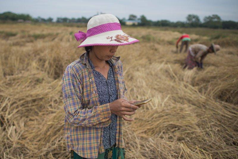 San San Hla. Photo:  Ye Aung Thu/AFP