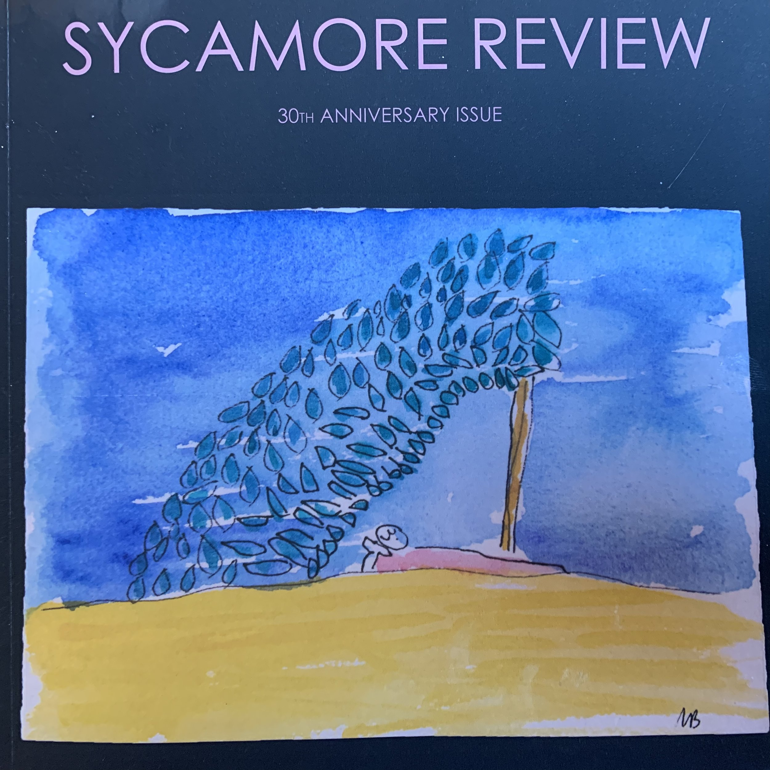Cover of the 30th Anniversary Issue of  Sycamore Review . Artwork by Marianne Boruch.