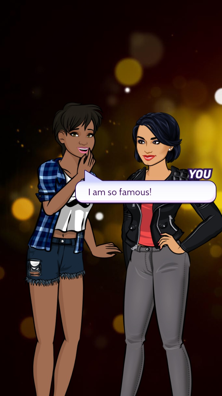"""A picture that Demi Lovato and I took on her """"Path to Fame"""" app lolz Also, is it just me, or is Demi undressing me with her eyes?"""