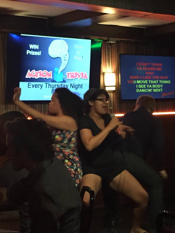 Performing The Thong Song at by best friend's birthday in August 2015, where people were so moved by the performed that they rushed onto the stage to twerk on me