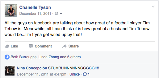 Why did 8 of y'all like that?! I'M GAY! Also, told you stumblin' was a thing.