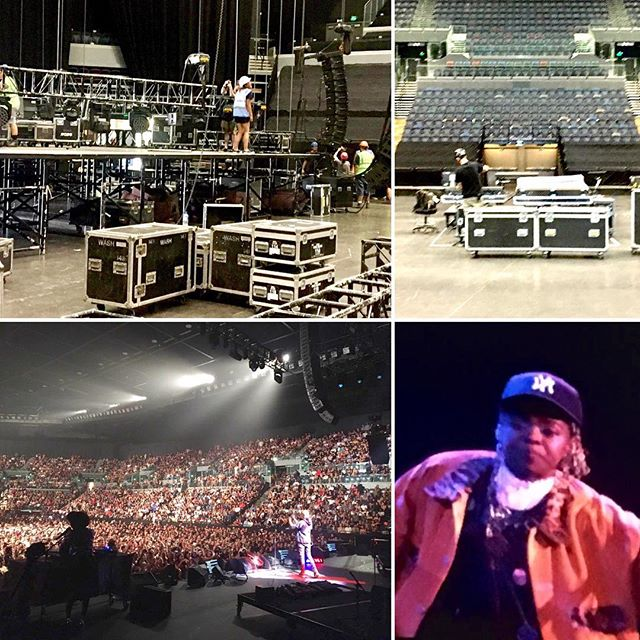 Yesterday was the final show of the tour in Auckland Spark Arena. Thanks to everyone involved in making it a successful tour. Now to face the long flight back to England #touringsolutions #production #ms_laurynhill #auckland #sparkarena