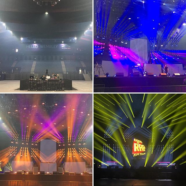 Gods of Rap, set up day in Wembley Arena. #touringsolutions #production #godsofrap #wembleyarena
