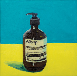 7 Patriotism, patriarchy and politics: 2015 feminism in context: Chloé Wolifson,  Sydney    Brenda Samuels,  Aesop hand wash , 2015, oil on canvas, 30 x 30cm, image courtesy the artist