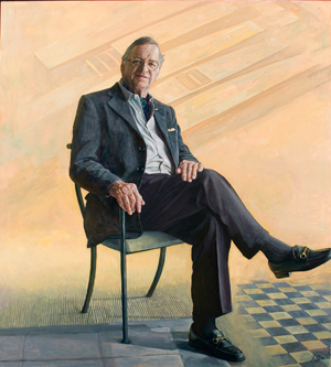 15 Gordon Darling 1921 – 2015: Angus Trumble,  Canberra    Jiawei Shen,  L. Gordon Darling AC CMG , 2006, oil on canvas, 168.8 x 153cm; National Portrait Gallery, Canberra, purchased with the assistance of the Mundango Charitable Trust and Claudia Hyles 2006