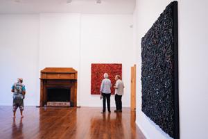 1 Soft power: Dani Marti and Bharti Kher at the 2016 Perth International Arts Festival: Christopher Barrett-Lennard,  Perth     Dani Marti: Black Sun, exhibition view, Fremantle Arts Centre (FAC), 2016; image courtesy FAC; photo: Rhianna Nelson