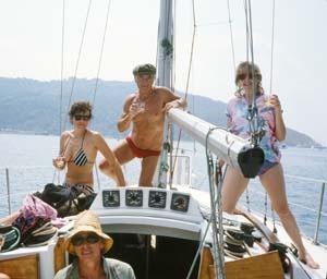6 Franco Belgiorno-Nettis and the summer of 1985: A memoir: ROSS WOLFE   Franco Belgiorno-Nettis and friends, Porto Venere, Italy, July 1985; photo courtesy Ross Wolfe