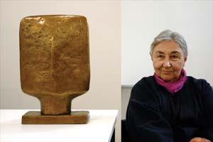 9 TRIBUTE: Marea Gazzard AO, CBE: MERRAN ESSAN   Marea Gazzard and  V.I.P,  2006, bronze; image courtesy of Utopia Art Sydney