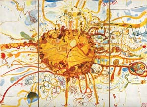 7 Australia, Royal Academy of Arts: SASHA GRISHIN   John Olsen,  Sydney Sun , 1965, oil on three plywood panels, overall: 307 x 412.5 x 40cm. Collection: National Gallery of Australia