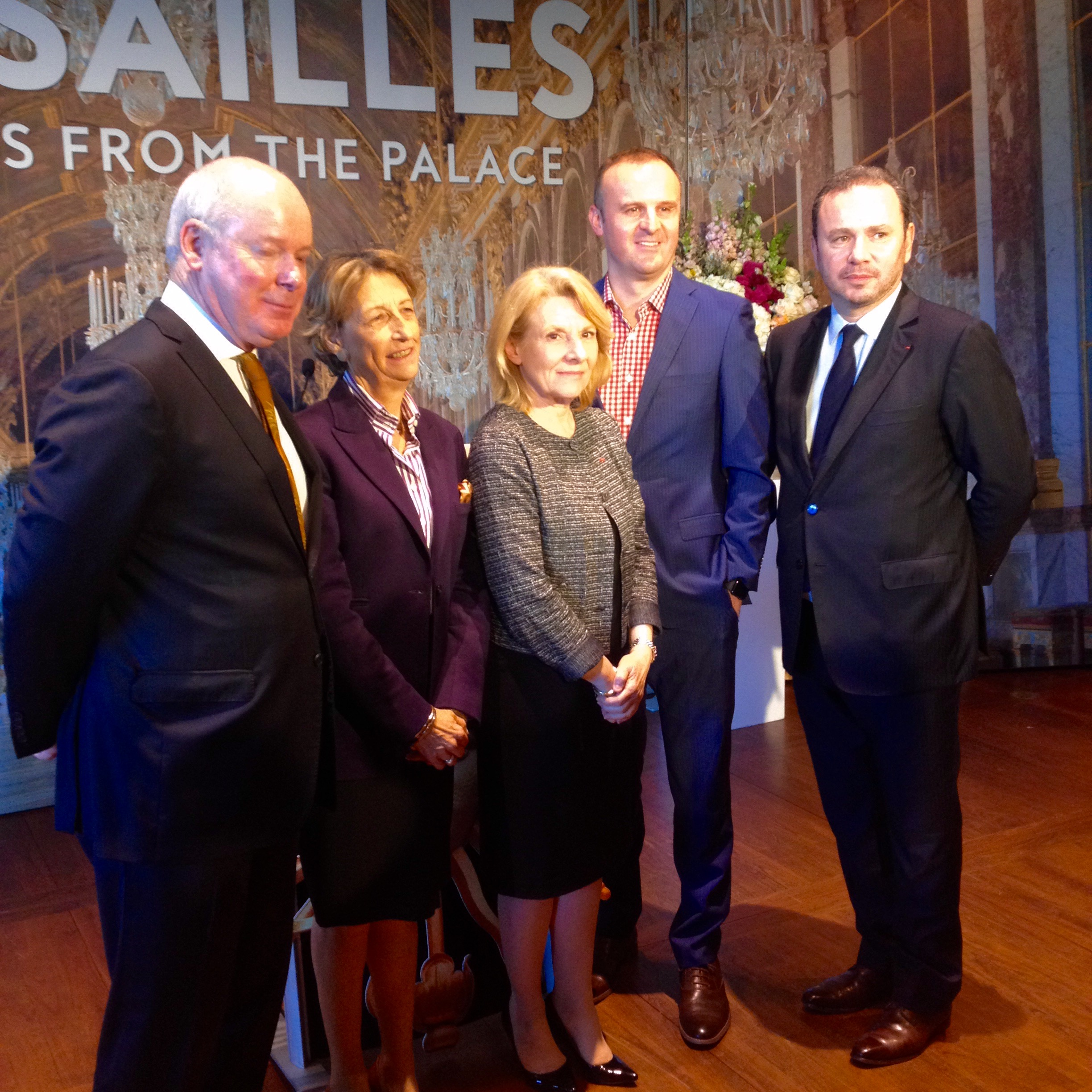 Gerard Vaughan, Beatrix Saule, Catherine Pegard, Andrew Barr and Christophe Lecourtier