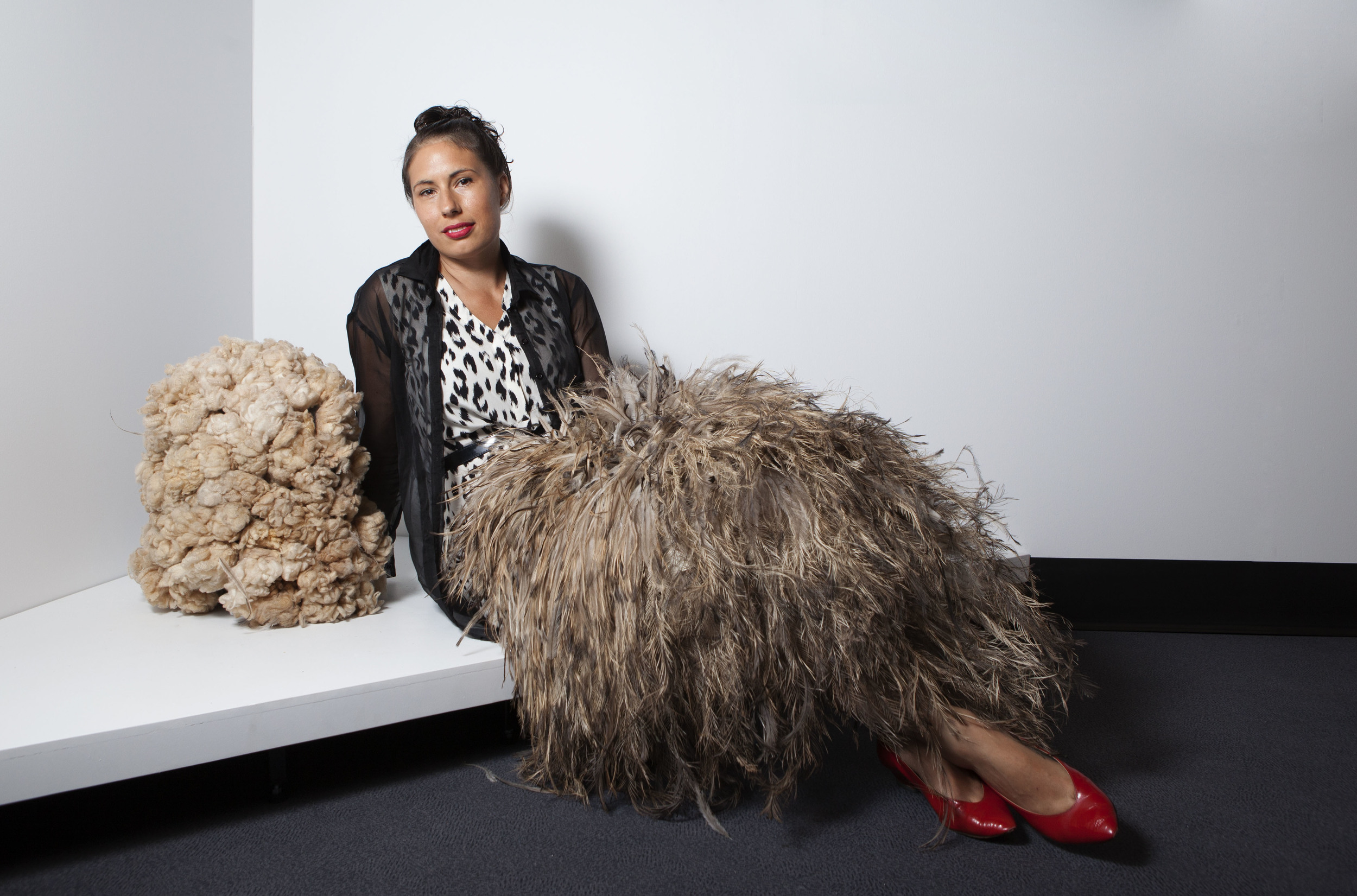 Nicole Monks and her performance piece,  We are all animals , which won the Wandjuk Marika Memorial 3D Award (sponsored by Telstra)