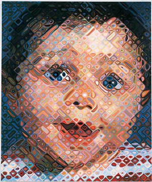 9 Close encounters with hyperreality: Michael Desmond   Chuck Close,  Emma,  2000, oil on canvas; image courtesy Pace Gallery, New York; photo: Ellen Page Wilson, Pace Gallery, New York © Chuck Close
