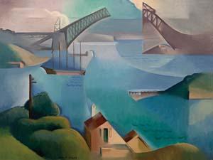 4 Dorrit Black: Reassessment rising high: DANIEL THOMAS   Dorrit Black,  The Bridge , 1930, Sydney, oil on canvas laid on board, 60 x 81cm, bequest of the artist 1951, Art Gallery of South Australia, Adelaide