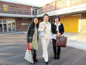 8 'Incheon, more than just an international airport': EN YOUNG AHN   Incheon Art Platform Director, Seungmi Lee (centre) with En Young Ahn (left) and the chief curator, Korean National Museum of Contemporary Art