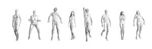 10 Yvonne East: Stratum: JANE HYLTON   Yvonne East,  Stratum Figure (1 - 8),  2012, charcoal on Paper, 400 x 150cm; photo: Richard Hodges, IMAGE COURTESY THE ARTIST