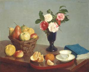 17 January: the dignity of objects: STEPHANIE RADOK   Henri Fantin-Latour,  Still Life , 1866, oil on canvas, 62 x 74.8cm. Chester Dale Collection; National Gallery of Art, Washington