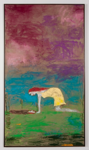 3 Reflections in a muddy puddle: Jenny Watson in conversation: Wes Hill,  Brisbane    Jenny Watson,  Reflection in a muddy puddle , 2013, oil on linen and mixed media, 250 x 141cm, image courtesy the artist and Roslyn Oxley Gallery, Sydney