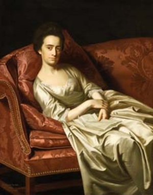 7 From 'Australia' to 'America': Painting a nation: ADAM GECZY    J ohn Singleton Copley,  Portrait of a lady , 1771, oil on canvas, 126.9 x 100.3cm, Los Angeles County Museum of Art; purchased with funds provided by the American Art Council; image courtesy and © Museum Associates/ LACMA