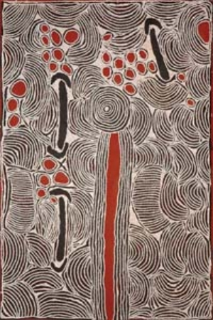 10 TRIBUTE: Ningura Napurrula: SARITA QUINLIVAN   Ningura Napurrula,  Untitled , 2007, synthetic polymer on Belgian linen, 183 x 122cm; courtesy Papunya Tula Artists