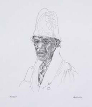 1 Bungaree, the First Australian interrupted: VIRGINIA FRASER   Peter McKenzie,  After Rodius , 2011, graphite on paper, 30 x 24cm; image courtesy the artist