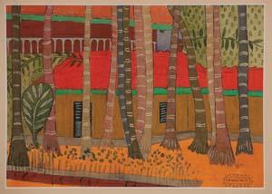 11 Fieldnotes: Mumbai: GENEVIEVE O'CALLAGHAN   Kamalakant Save,  Untitled , gouache on card, 25.4 x 35,56; image courtesy the artist