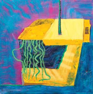 13 Andrzej Zielinski: pulp digital fictions: MARK PENNINGS   Andrzej Zielinski , Green Shredded,  2011, acrylic on linen, 102 x 102cm .  Image courtesy the artist and Gallery 9, Sydney
