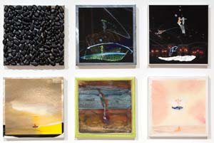 11 Micky Allan at CCAS: MELINDA HINKSON    Nada and the whale  (detail), 2010-11,watercolour, mixed media, each work 20 x 20cm