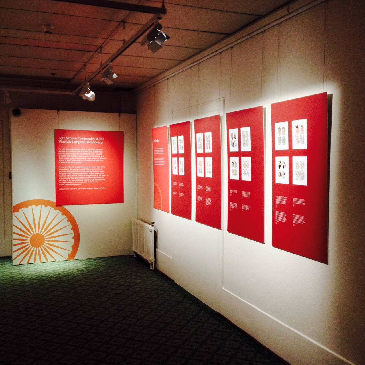 AJIT NINAN , Installation view, MUSEUM OF AUSTRALIAN DEMOCRACY, CANBERRA; image COURTESY CAITLIN SEYMOUR-KING
