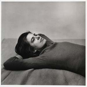 6 Susan Sontag's Legacy to the Visual Arts: JOHN CONOMOS   Peter Hujar,  Susan Sontag , 1975, vintage gelatin silver print, 10 x 8 inches. Collection: The National Portrait Gallery, Washington© 1987 The Peter Hujar Archive LLC