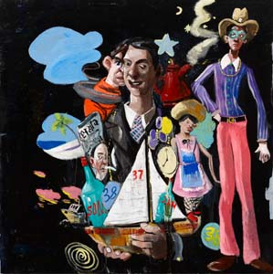 8 Head – Into the Black: McLean Edwards: ANDREW FROST    Disco Boat , 2010, oil on canvas, 153 x 153cm. All images of work by McLean Edwards, courtesy the artist and Martin Brown Fine Art, Sydney