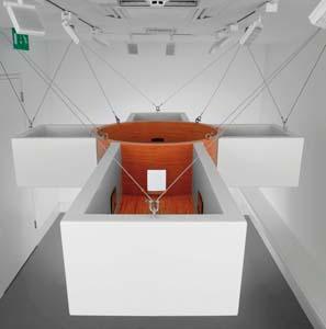 12 John Kelly – Probe: LAURA GASCOIGNE    Halo , 2007, mixed media, installation view, Agnew's Gallery, London. Photographs by Todd White & Associates