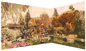 7 Notes from the Humble Administrator's Garden: The Draguerrotypes of Gary Carsley: PETER HILL    D.95 Composite Panorama 1. New York/Shanghai/Hong Kong/Suzhou/Berlin/Singapore/Sydney  (detail), 2010, Lambda mono print on Kodak Professional Paper, 238 x 1989cm; 17 panels each 238 x 117cm