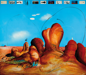 13 Behind the gavel: Australian auction houses: ANITA ARCHER   Brett Whiteley,  The Olgas for Ernest Giles , 1985, oil and mixed media on board, Lot 35, 13 June, 2007, Deutscher-Menzies, D&D Studio 101. Image courtesy the artist and Menzies Art Brands Pty Ltd, Melbourne and Sydney
