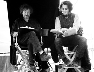 8 Tim Burton: ERIN CONNAL   Director Tim Burton on the set of  Sweeney Todd: The Demon Barber of Fleet Street , with actor Johnny Depp (as Sweeney Todd). © 2007 by DreamWorks LLC and Warner Bros. Entertainment Inc. All Rights Reserved. Photograph by Leah Gallo