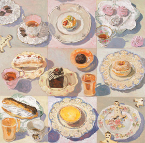 11 Controversy & acclaim: 60 years of the Mosman Art Prize: JEREMY ECCLES   Lucy Culliton,  Still Life / White Ground , 2000, oil on board, 120 x 120cm, From the Collection of Mosman Art Gallery Mosman Council. Images courtesy the artists