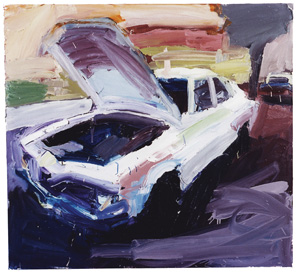 6 Growing Pains – A journey through BEN QUILTY LIVE!, LAINI BURTON    Torana no. 5,  2003, oil on canvas, 120 x 140cm. Private collection.