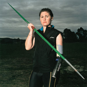 10 Wrong Gear? The Basil Sellers Art Prize: CHRISTOPHER HEATHCOTE   Selina Ou,  Madeleine Hogan, field athlete , 2008, F46, type C print, 100 x 100cm. © Courtesy the artist; Sophie Gannon Gallery, Melbourne; and GRANTPIRRIE, Sydney