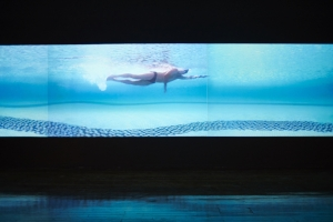 16 An unsettling ambivalence: Matthew Ngui's 'Every Point of View': John Mateer,  Perth    Matthew Ngui,  Swimming; at least 8 points of view,  2007, installation view, Fremantle Arts Centre, 2016; four-channel digital video, sound, 10:10 mins duration; Queensland Art Gallery / Gallery of Modern Art, Brisbane
