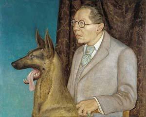 10 Dual purpose: Otto Dix's Hugo Erfurth with Dog: JUSTINE BAYOD ESPOZ   Otto Dix,  Hugo Erfurth with Dog,  1926, tempera and oil on panel. Courtesy Thyssen-Bornemisza Museum Madrid, Spain