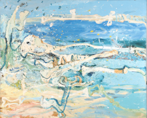 9 Landscapes of the mind: Michael Taylor at CMAG: Michael Desmond,  Canberra    Michael Taylor,  Bones, Eden , 1983, oil on canvas, 183 x 229cm; private collection, Bowral; photo: Rob Little