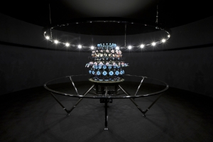 1 Dispatches: Evolutionary art; Still Edgy: Andrew Stephens   Mat Collishaw,  The Centrifugal Soul , 2016, acrylic, aluminium, steel, LED lights, motor, electronic circuitry, resin, paint; commissioned by MONA for 'On the Origin of Art'; image courtesy MONA, Hobart; photo: MONA/Rémi Chauvin