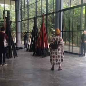 3 The 32nd SÃo Paulo Biennial: In praise of uncertainty: En Young Ahn,  São Paulo    Frans Krajcberg,  Untitled , n.d., installation view, the 32nd SÃO Paulo Biennial, 2016; burnt wood and natural pigments, dimensions variable; photo: En Young Ahn
