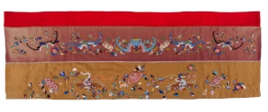 7 A poignant intimacy: Nyonya needlework at the Peranakan Museum: Andrew Montana,  Singapore    Valance for a wedding bed, Indonesia, mid-nineteenth century; image courtesy the National Museum of World Cultures, The Netherlands