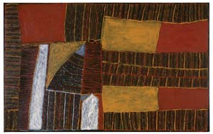 5 Kitty Kantilla: MARIELLE SCHWERIN,  Melbourne    Kutuwalumi Purawarrumpatu Kitty Kantilla, Tiwi,  Untitled,  2002, earth pigments on canvas, private collection, NSW. © The artist's estate, courtesy of Jilamara Arts & Crafts   6 Interference problems? Comments on the recent reception of Howard Arkley: JOHN GREGORY