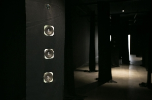 10 Southeast Asia Forum: Dissonant voiceS: Michael Fitzgerald,  Singapore    Tintin Wulia, Untold Movements Act 1: Neitherland, Whitherland, Hitherland, 2015, installation view, Art Stage Singapore, 2017; 32-channel sound installation, dimensions variable; image courtesy the artist, Art Stage Singapore and Milani Gallery, Brisbane