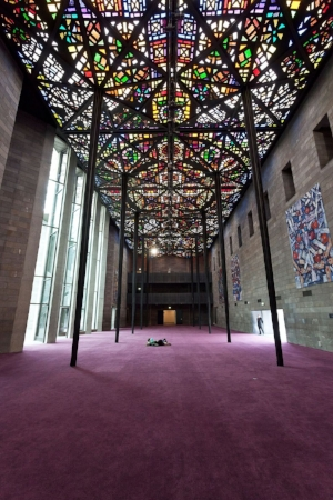 14 Leonard William French 1928 –2017: Sasha Grishin   Leonard French's Great Hall ceiling, NGV International, Melbourne; image courtesy National Gallery of Victoria, Melbourne