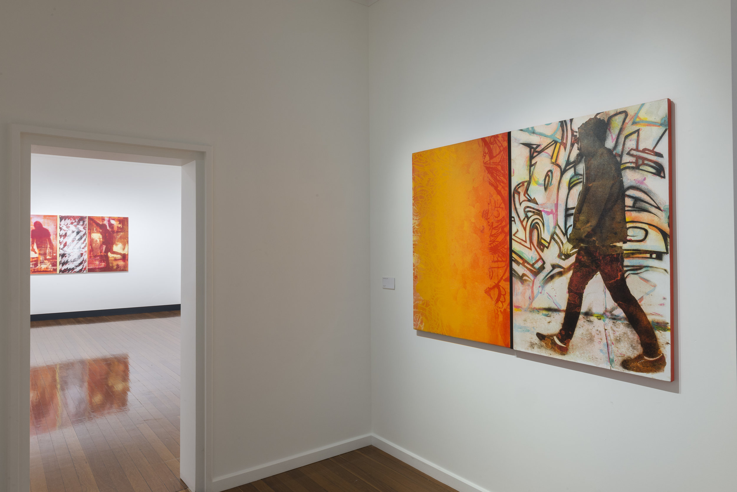 Robert Boynes: Modern Times , exhibition install view, ANU Drill Hall Gallery, Canberra, July 2017; photo: Rob Little, RLDI