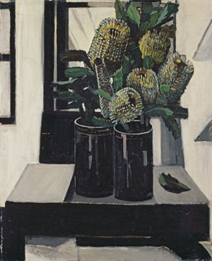 4 Under cover of flowers: MARY EAGLE    Margaret Preston,  Banksia , 1927, oil on canvas. National Gallery of Australia, Canberra. Licenced by VISCOPY