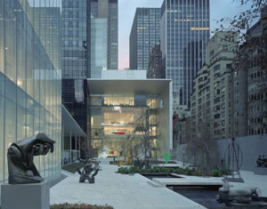 1 Making Manhattan modern, but not contemporary, again: The Museum of Modern Art, New York, reopens: TERRY SMITH   Exterior view of the David and Peggy Rockefeller Building, MoMA, designed by Yoshio Taniguchi, from West 54th Street. Photo Timothy Hursley 2005. Courtesy of MoMA